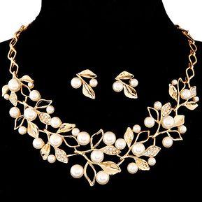 dc695dcdf087 Agotado Collar Y Aretes Harmonie Accesorios Multi Perlas Dorado