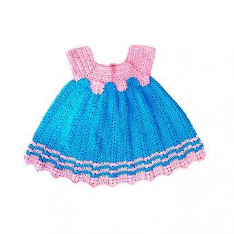 Compra Vestido Bebe Niña Tejido Ropa Para Bebes Rosado online ... 39052885e276