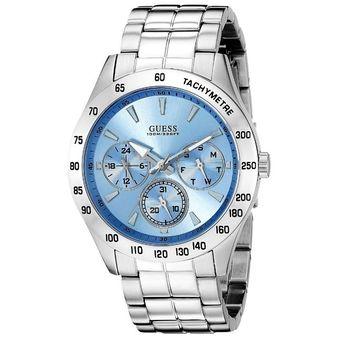 Compra Reloj Guess U0719G1 Análogo Plateado Para Hombre online ... 5ffc92d858e8