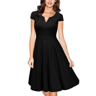 ca22ad972 Tramo De Mujer 2017 Verano Vintage Vestido Fiesta Vestidos Negro Slim Elegante  Noche Fiesta Vestidos Maix