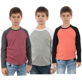 PACK 3 T-SHIRT RANGLAN - SWISS LORD KIDS eaf36f7af19