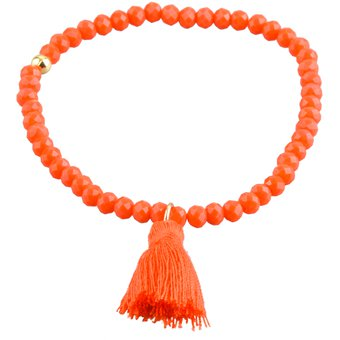 8178a01dbedd LuckyLy – Pulseras Colores Mujer Anette Coral, Piedras Tipo Swarovski