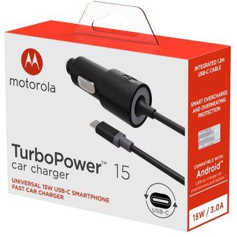 fc6e80eb1e9 Compra Motorola Cargador Auto Turbo Power Tipo C Fast Charger online ...