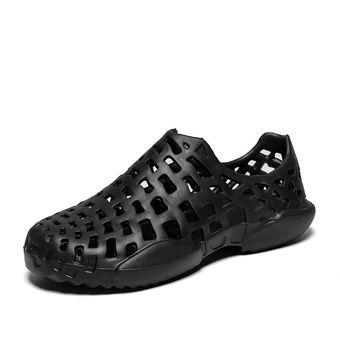 167aac9cb2914 Parejas Playa Zapatos para el agua Jardín Zuecos sandalias hombre cuero