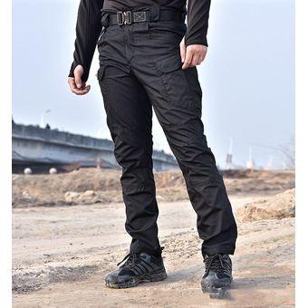 Bolsillo Multiple Elastico Pantalones Tipo Cargo Para Hombre Negro Linio Mexico Ge598fa1hg6iylmx
