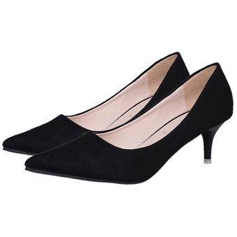Compra Moda tacones finos mujeres zapatos bombean Slip on Punta zapatos mujeres de 6284ca