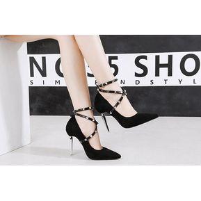 3f27ee98c9 Zapatos De Tacon Tacón Grueso Generico Mujer-Negro