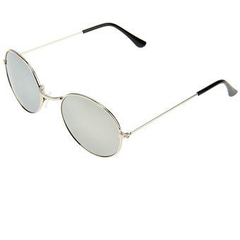 0047b40800 Oval Retro UV400 Protección UV Metal Frame Lente Gafas De Sol De ...