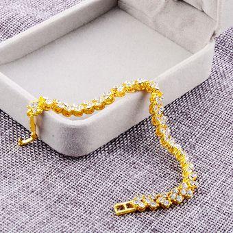 bcbd8597e80b glamorosa mujer pulsera de cristal con incrustaciones de diamante  artificial para la boda