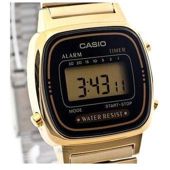 75c5548bbad0 Compra Reloj Casio Dama Vintage LA670WG-Dorado con Negro online ...