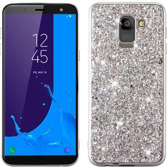Compra Funda De TPU Glitter Para Samsung Galaxy J6 SM-J600F-Plata ... d111af63615e