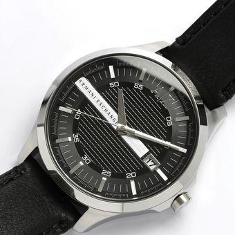c7c00115077d Reloj Armani Exchange AX2101 Acero Inoxidable Correa De Cuero - Plateado  Negro