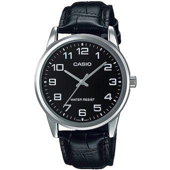 b21150a39577 Compra Reloj Casio MTP-V001L-1B En Cuero Para Hombre-Negro online ...