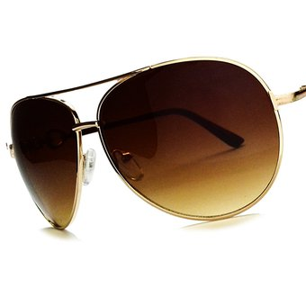 Agotado Lentes De Sol Gafas Aviador Piloto Para Hombre Mujer Vacaciones Café d37172b52a94