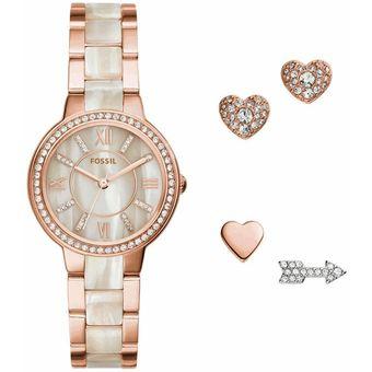 94a8652adf99 Compra Reloj Fossil Virginia ES3965SET Para Dama-Oro Rosa online ...