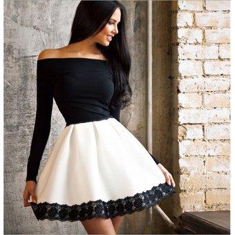 Vestidos casuales en blanco y negro