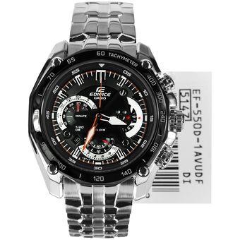6aa5e8e08eac Compra Reloj Casio Edifice EF-550D-1A-Plateado con Negro online ...