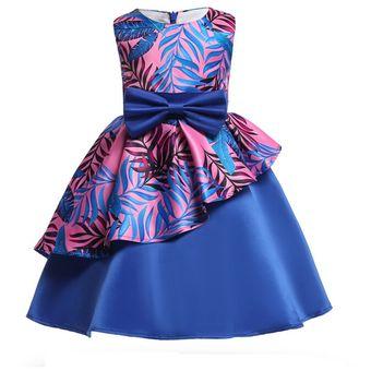 0b7d4b975a Compra Vestido princesa navideña para niños estampado-Azul morado ...