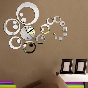Compra ew 23 pc sistema dty decoraci n espejo pegatinas for Decoracion con espejos en paredes