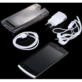Nuevo 1,0Ghz Dual Core 5.0 Pulgadas De 540X960 De Alta Calidad Smart Phone V55 Teléfono Blanco