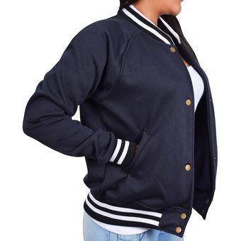Compra Chaqueta Azar Beisbolera Dama - CHM001 Azul online  c0ef2df55b4