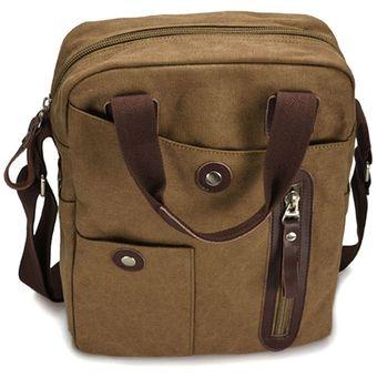 111893b60a8 Compra Negocios casual bolso de lona para hombre - Café online ...
