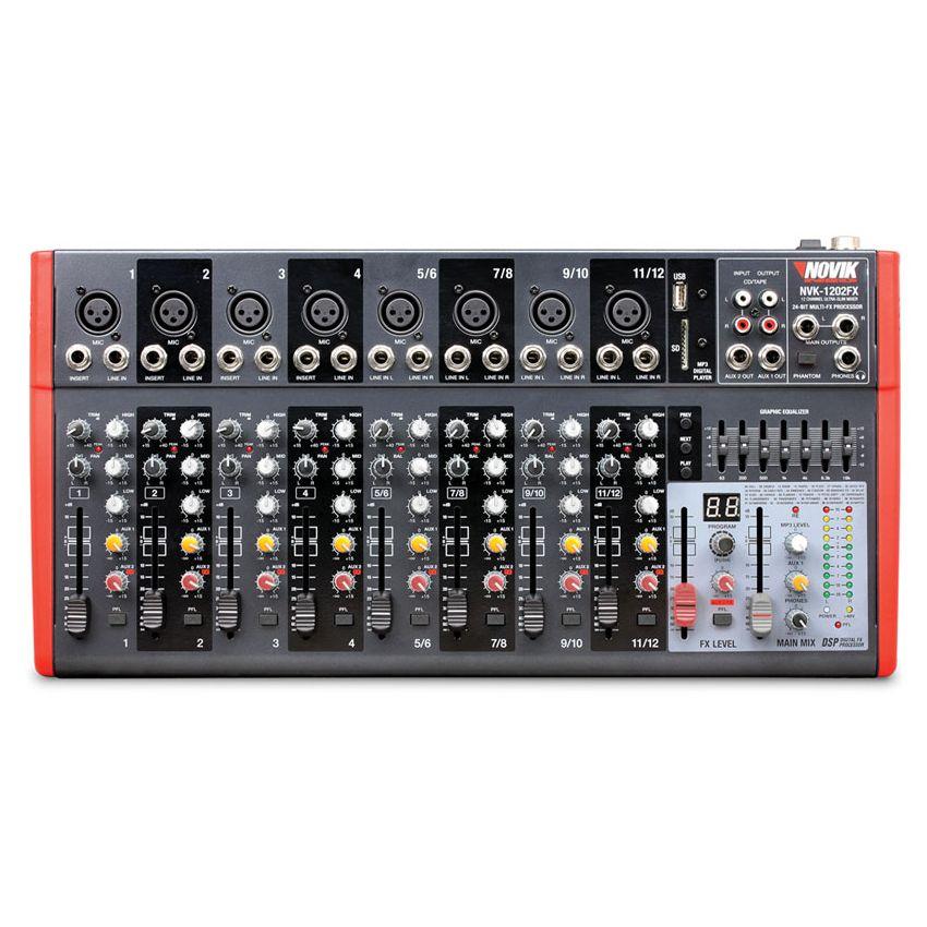 Consola Mescladora Slim Novik Neo 12 Canales Nvk-1202fx