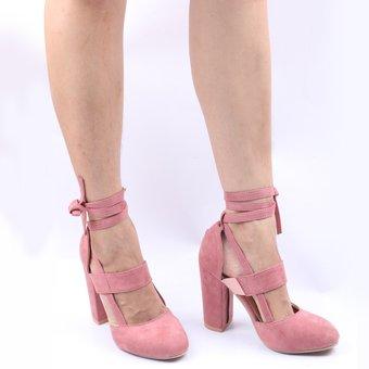 9823b5b6 Compra Rosada Sexy Gladiador Tacones Altos 8CM Zapatos De Vestir De ...