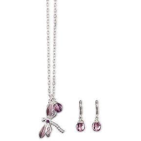 98eb08902405 Unique - Colección Libelu 1 Collar Y 1 Par De Aretes Metal Bañado En Plata