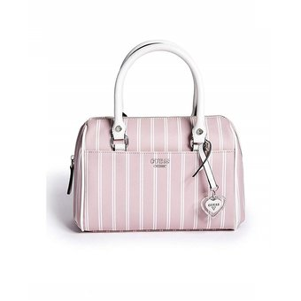 64b1fd08d Compra Cartera GUESS Mujer Marlie Pinstriped Mini Box Satchel online ...