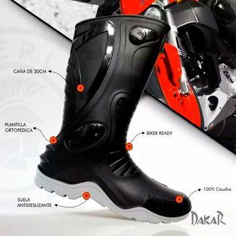 95761c13e69 Agotado Botas Para Moto Dakar Suela Gris Pvc Impermeable Motociclistas