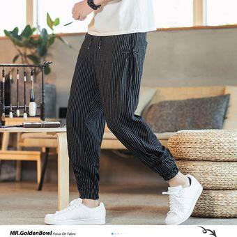 Tienda De China Pantalones Haren A Rayas Blancas Y Negras Para Hombre Nueva Moda Pantalones Ho Sai Linio Peru Un055fa1dx9hnlpe