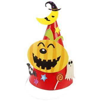 Halloween Patrón De Dibujos Animados Sombrero De Papel De Los Niños -  Calabaza 5fbce90f936