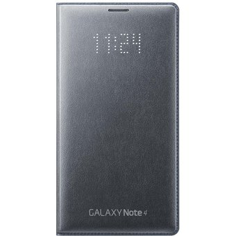 hot sale online e57a2 108a6 Funda LED Flip Wallet Samsung Original Para Galaxy Note 4 - Negro