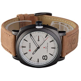 9955db5b8dbf0 Compra Curren 8139 Reloj Analógico Casual Sport - Marrón Y Blanco ...