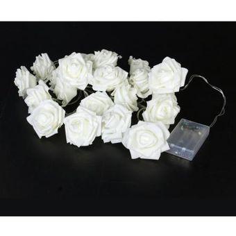 87bb36edb40 Compra Guirnalda 20 luces LED Rosas Blancas a Pilas online