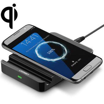 99e0885fa99 Ugreen 12V / 2A QI cargador inalámbrico doble estándar con puertos USB