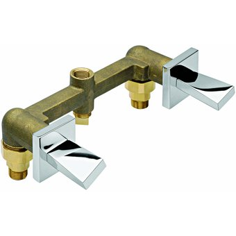Compra mezcladora empotrar doble para regadera o tina for Vastago para llave de regadera