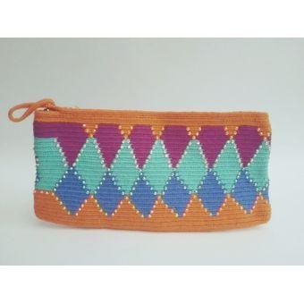5c9c0780b Compra Cartera Sobre / Clutch Wayuú - Naranja Multicolor online ...
