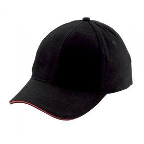 99ac79ae30783 Cachucha Gorra Beisbol Con Vena Color 4 Ojetes Bordados - Negro Rojo