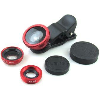 55afbf5b0b6 Lentes de clip universal x3 tipos de lentes: Ojo de pez, Macro y 0.6