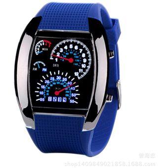 be578bcbe9fa Agotado Relojes Caballero Aviador F50 Geneva Velocimetro Watch Extensible  Caucho Reforzado - Azul Oscuro