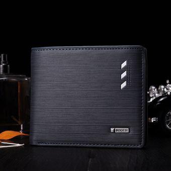 código promocional e6f4c e713b Billetera de hombre tendencia moda juvenil monedero monedero-negro