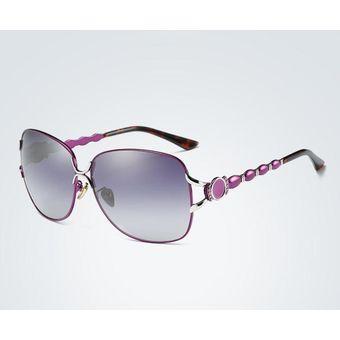 887bd7e9d9 Compra Nuevas Damas Polarizaron Las Gafas De Sol Clásicas-púrpura ...