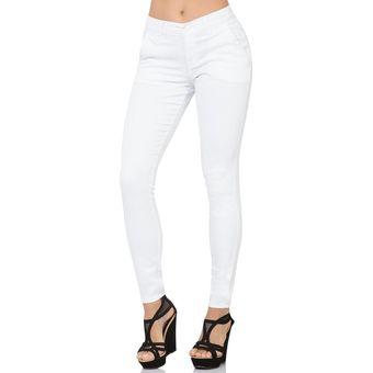 Pantalon Oggi Jeans Mujer Blanco Gabardinastretch Chinosskinny Linio Mexico St571fa1fjl37lmx