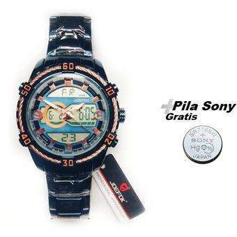 despeje muy baratas lo último Reloj JOEFOX Doble Hora Azul 1808G + pila gratis