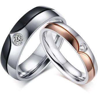 Compra Anillo De Diamantes Par De Acero De Titanio De San Valentín