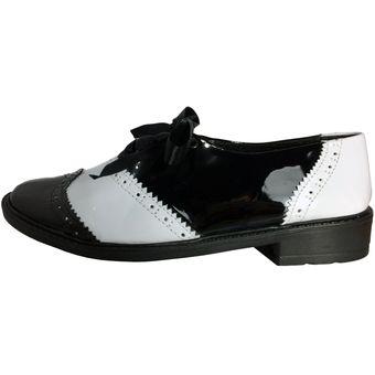 más fotos 6ce0d 71602 Zapatos Para Mujer OutFit Vintage Negro Blanco