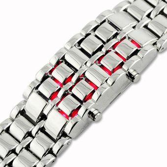 02f004524872 Compra Reloj Led Hombre Digital Lava Samurai - Plateado Luz Roja ...