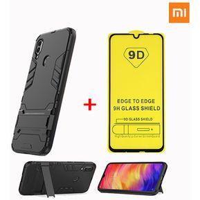 b86685d44f3 Mica de Vidrio + Funda / Case Xiaomi Redmi Note 7 - Negro